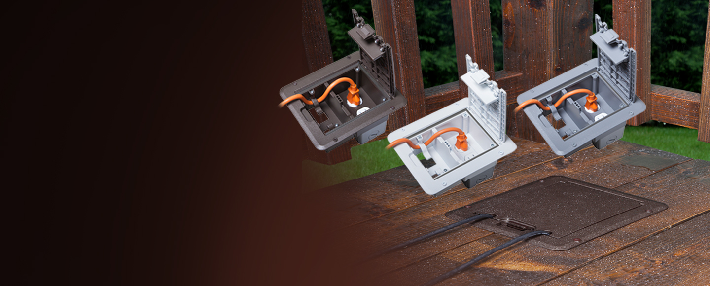 NEW!  Weatherproof Deck Outlet Cover