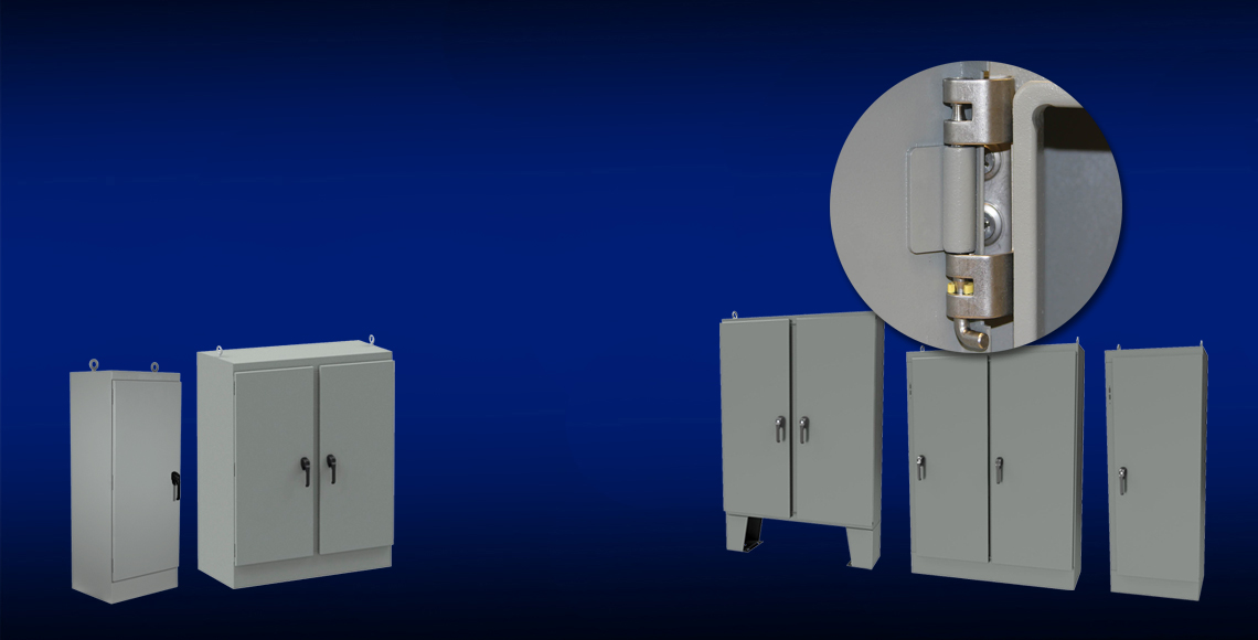 KwikHinge™ Enclosures with sliding hinge pins for rapid access