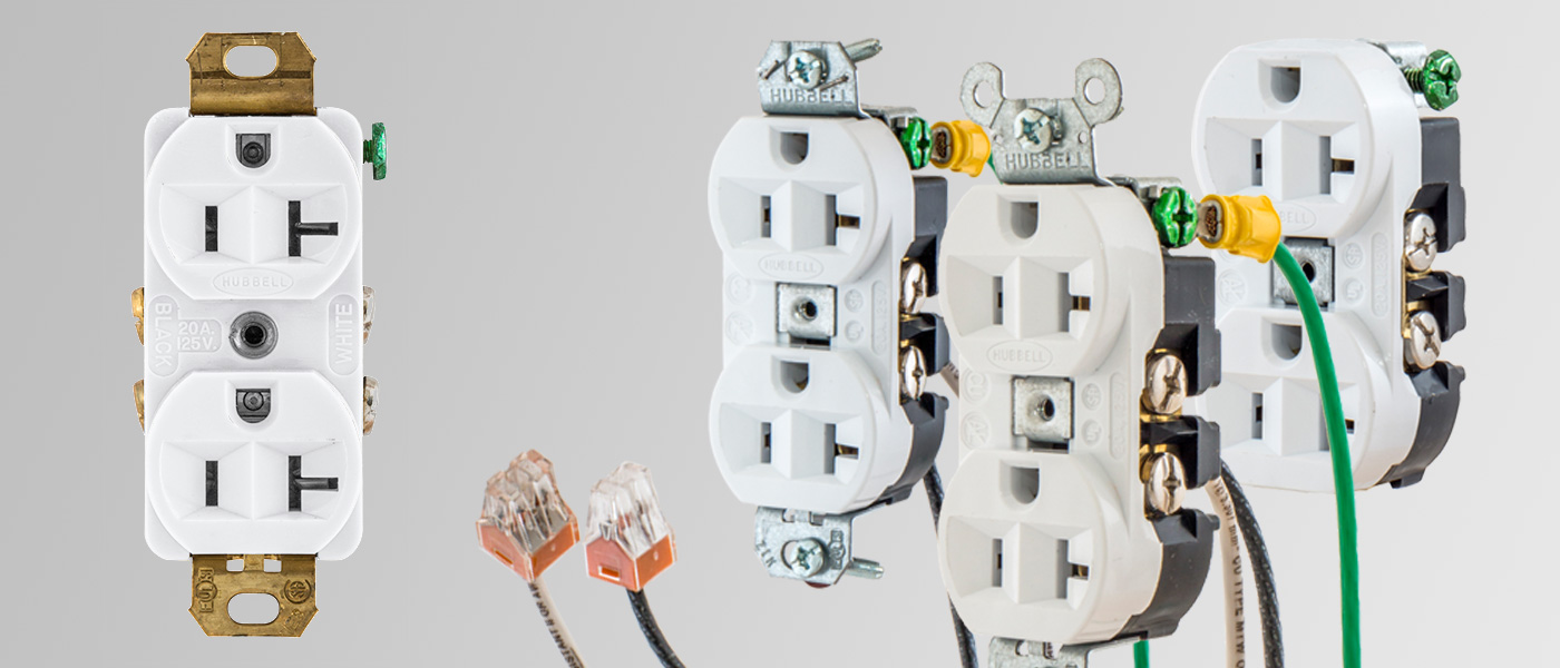Hubbell configurable pre wired receptacles